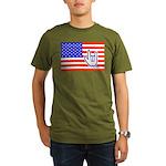ILY Flag Organic Men's T-Shirt (dark)