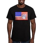 ILY Flag Men's Fitted T-Shirt (dark)