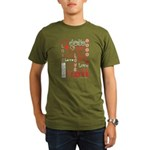 Love WordsHearts Organic Men's T-Shirt (dark)