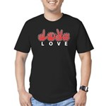 Captioned LOVE Men's Fitted T-Shirt (dark)