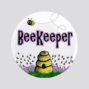 "Beekeepers 3.5"" Button"