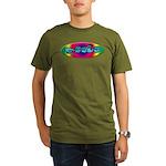 Rainbow PEACE Organic Men's T-Shirt (dark)