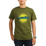 PEACE Glow Organic Men's T-Shirt (dark)