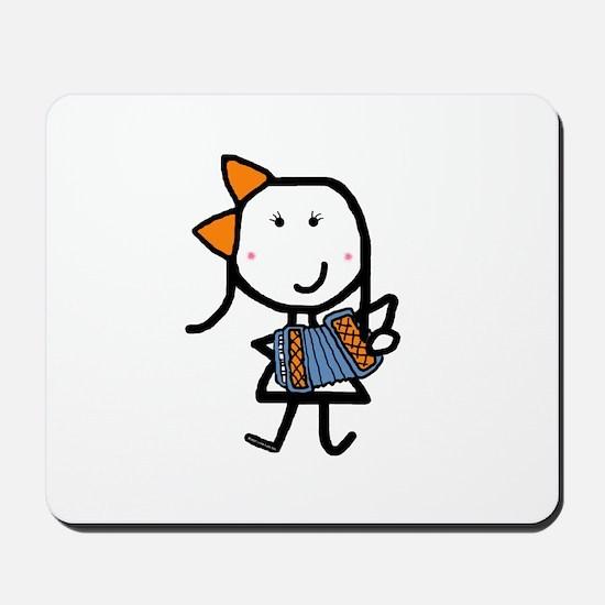 Girl & Accordion Mousepad