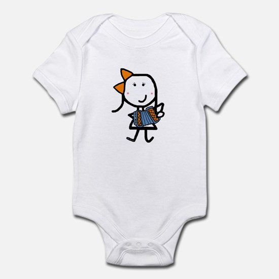 Girl & Accordion Infant Bodysuit