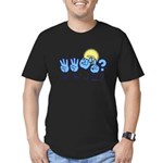 WWJD? Men's Fitted T-Shirt (dark)