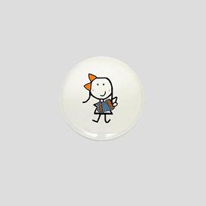 Girl & Accordion Mini Button