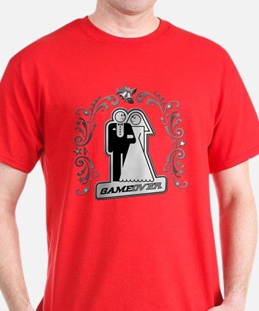 Art Deco Silver Wedding T-Shirt