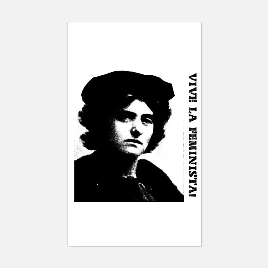 Vive la feminista! Rectangle Decal