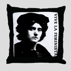Vive la feminista! Throw Pillow