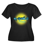 PEACE Glo CC Women's Plus Size Scoop Neck Dark T-S