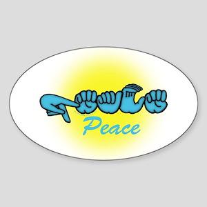 PEACE Glo CC Oval Sticker
