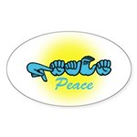 PEACE Glo CC Oval Sticker (10 pk)