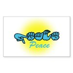 PEACE Glo CC Rectangle Sticker 50 pk)