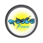 PEACE Glo CC Wall Clock