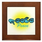 PEACE Glo CC Framed Tile