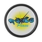 PEACE Glo CC Large Wall Clock