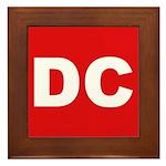 DC (Red and White) Framed Tile