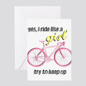 Ride Like A Girl Greeting Card