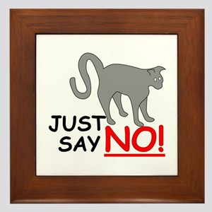 Just Say NO! Framed Tile