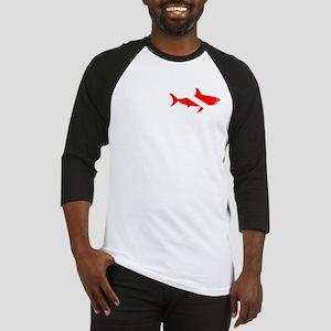 Shark Diver Double Shark Baseball Jersey