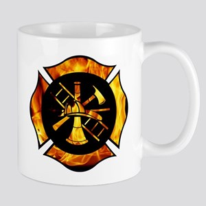 Flaming Maltese Cross Mug