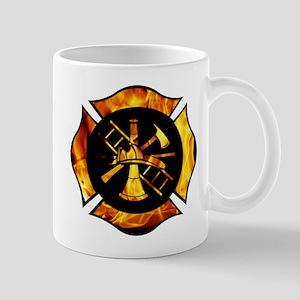 Flaming Maltese Cross Mug