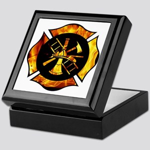 Flaming Maltese Cross Keepsake Box