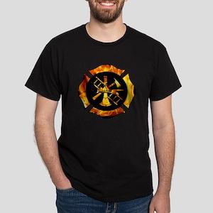 Flaming Maltese Cross Dark T-Shirt