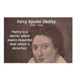 Romantic Poet Percy Shelley Postcards (Package of