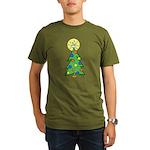 ILY Christmas Tree Organic Men's T-Shirt (dark)