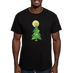 ILY Christmas Tree Men's Fitted T-Shirt (dark)