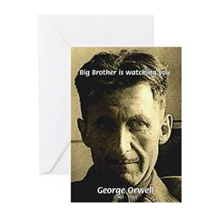 Orwell Big Brother 1984 Greeting Cards (Package of