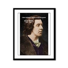 Playwright: Oscar Wilde Genius Quote & Portrait