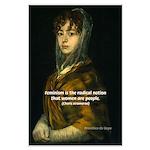 Feminism: Women as People: Goya Print Large Poster