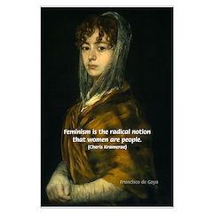 Feminism: Women as People: Goya Print Posters