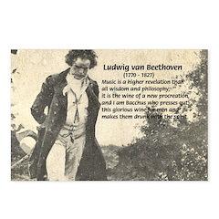 Ludwig van Beethoven Postcards (Package of 8)