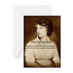 Mary Wollstonecraft Greeting Cards (Pk of 10)