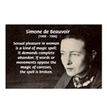 Simone De Beauvoir Postcards (Package of 8)