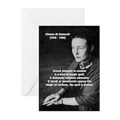 Simone De Beauvoir Greeting Cards (Pk of 10)