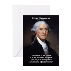 Politics: George Washington Greeting Cards (Packag