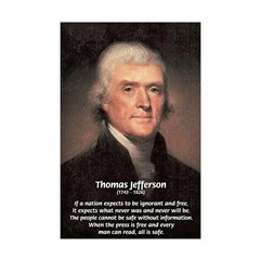 Thomas Jefferson: Free Media Mini Posters
