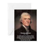 Media Thomas Jefferson Greeting Cards (Package of