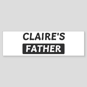 Claires Father Bumper Sticker