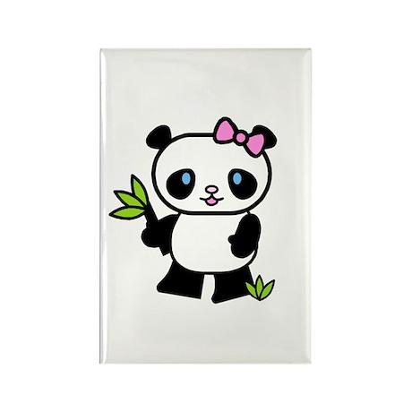 Lil' Girl Panda Rectangle Magnet