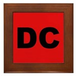 DC (Red and Black) Framed Tile