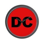 DC (Red and Black) Wall Clock