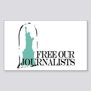 Free Our Journalists Rectangle Sticker