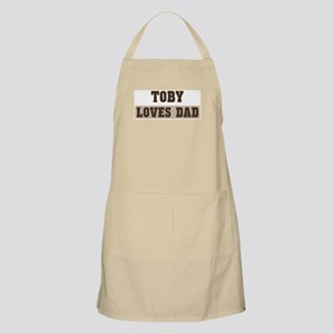 Toby loves dad BBQ Apron