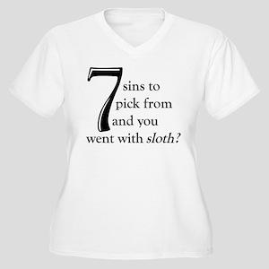 The Lamest Sin Women's Plus Size V-Neck T-Shirt
